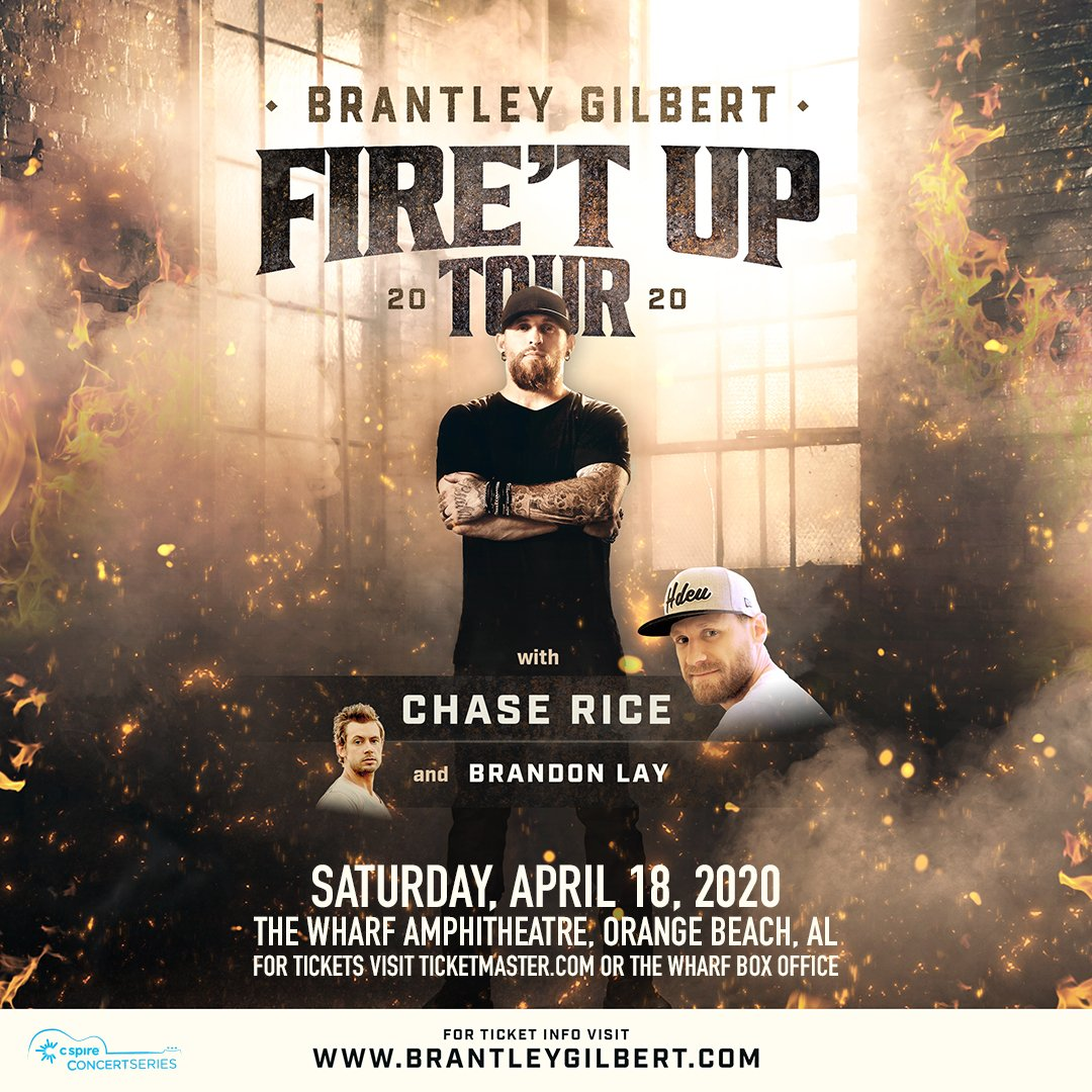 Brantley Gilbert Tour 2020.The Wharf Amphitheater On Twitter Just Announced Our 2020