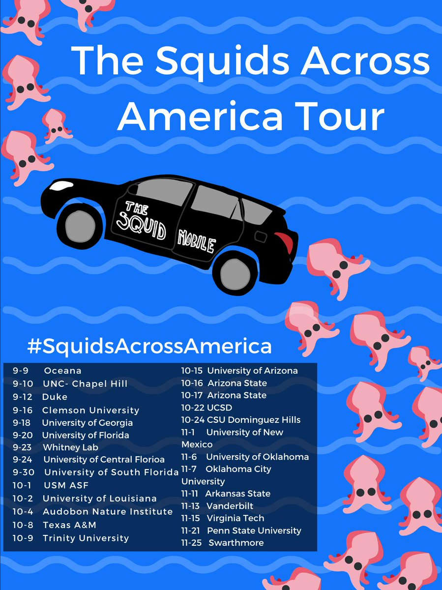 #SquidsAcrossAmerica starts TOMORROW.