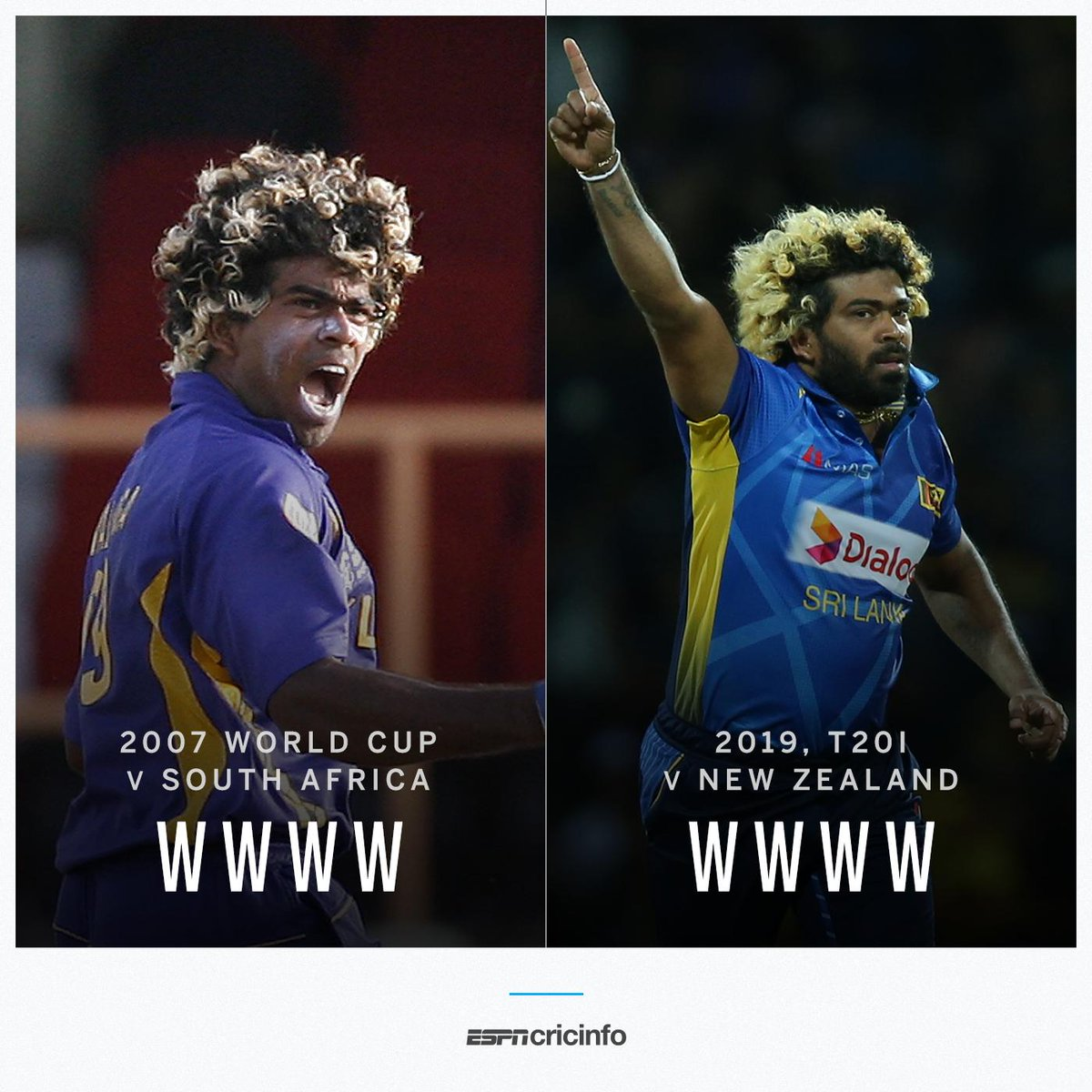 Four in four, absolutely stunning! And Malinga has now done it twice    http:// es.pn/2lAscy4      #SLvNZ <br>http://pic.twitter.com/R3UqlhRaF9