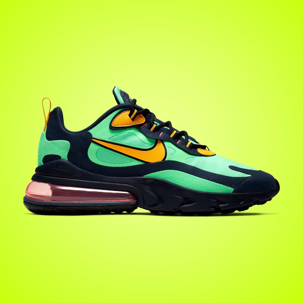 """online retailer d4e03 3095d Nike Air Max 270 React """"Electro Green"""" Available ..."""