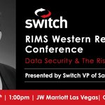 Image for the Tweet beginning: Don't miss @Switch VP of