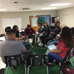 Image for the Tweet beginning: A Socratic seminar in Mr.