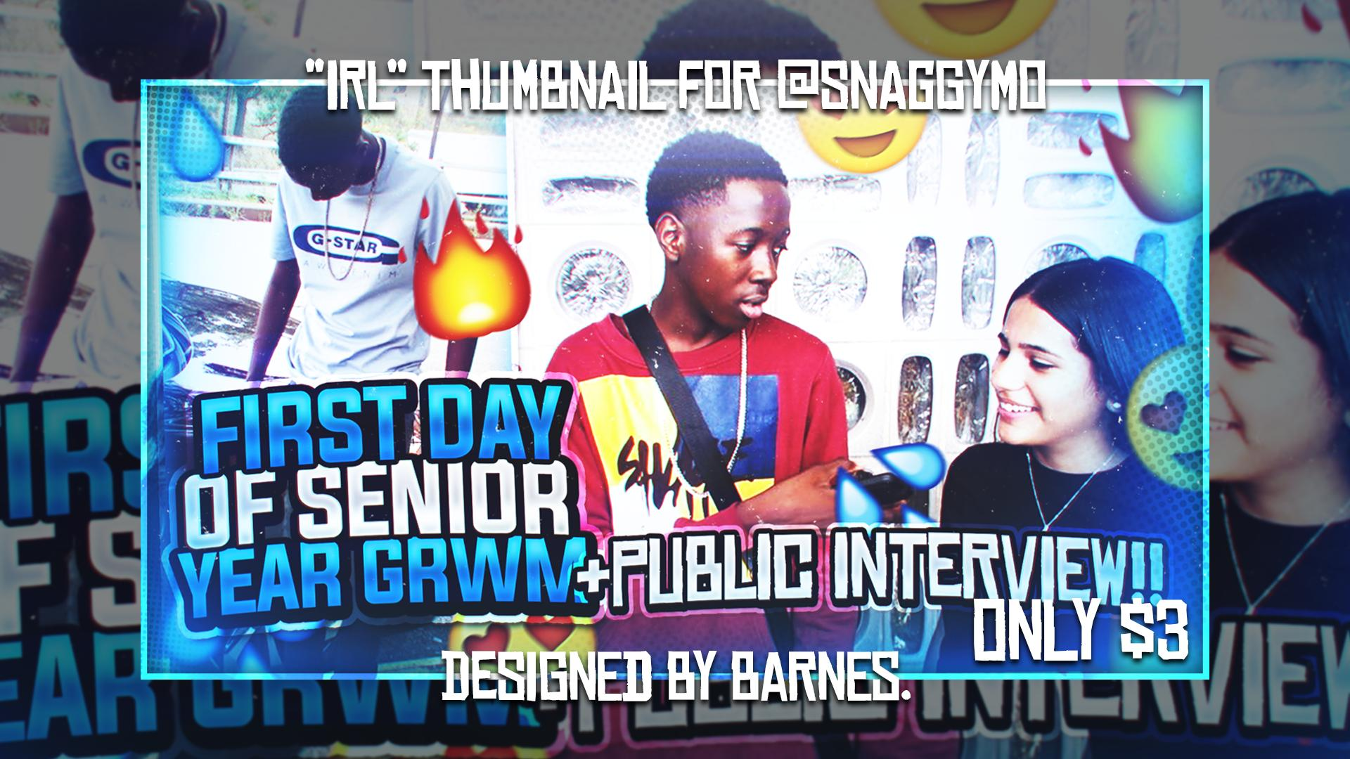 ʙᴀʀɴᴇs 2 0k On Twitter Banger Irl Thumbnail Made For Snaggymo Please Share Like And Retweet 3 If You Want A Thumbnail For Yourself They Cost Only 3 Grwm Firstdayofschool2019 Senioryear I post daily pictures on here. twitter