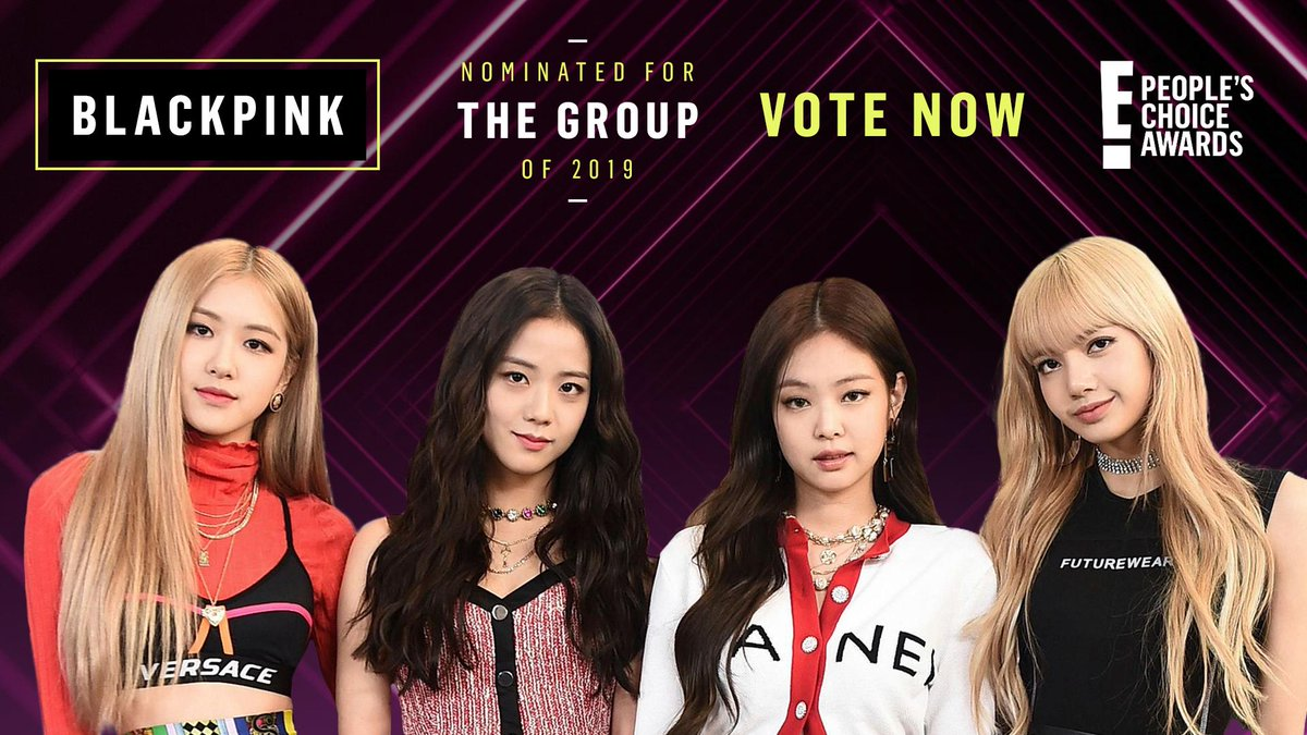 RT to vote for #blackpink as #TheGroup of 2019 now! #PCAs