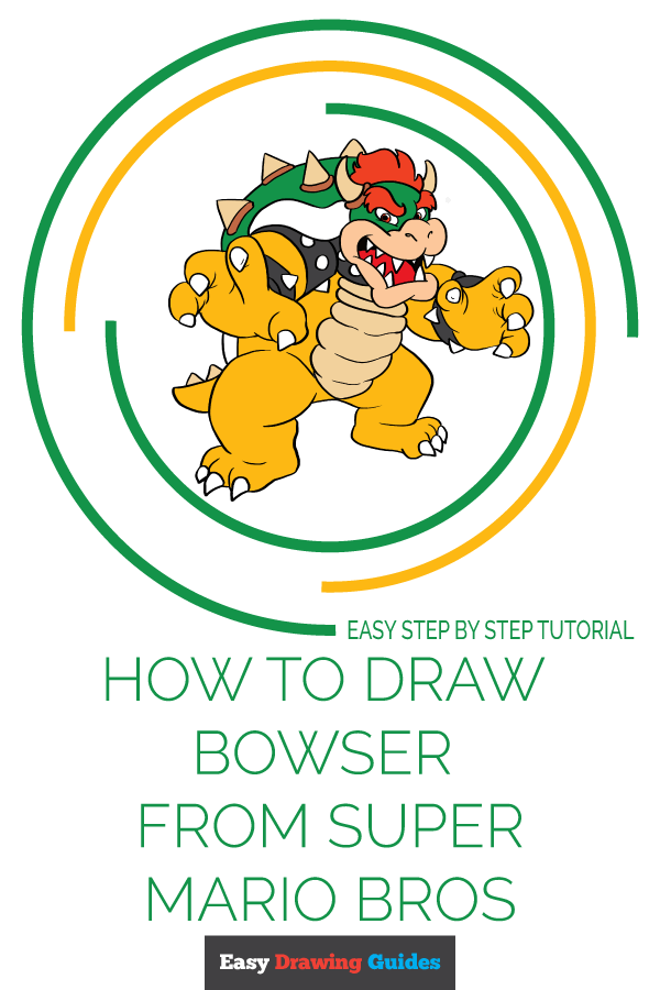 Easy Drawing Guides On Twitter Learn How To Draw Bowser