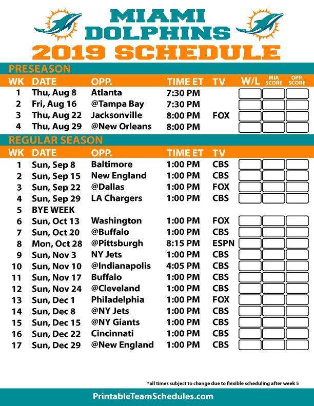 photo regarding Miami Dolphins Printable Schedule titled Mechanical A/C (@MechanicalAC) Twitter