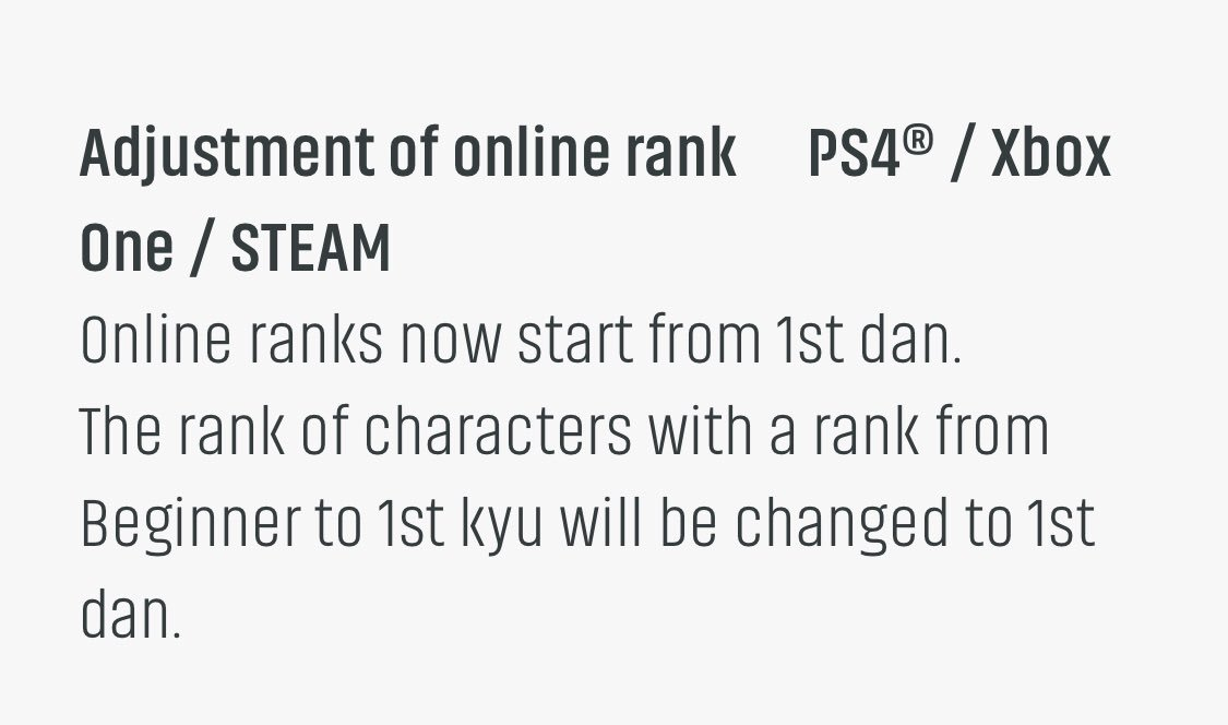 Tekkengamer Com On Twitter No More Wood Ranks Kyu In Tekken 7 Come Season 3
