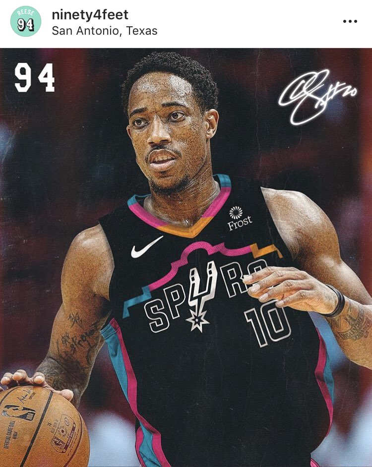 Photoshopped onto Demar . What y'all think  ? I think it's better than a new camo jersey . #GoSpursGo <br>http://pic.twitter.com/TCDdBGwTKf
