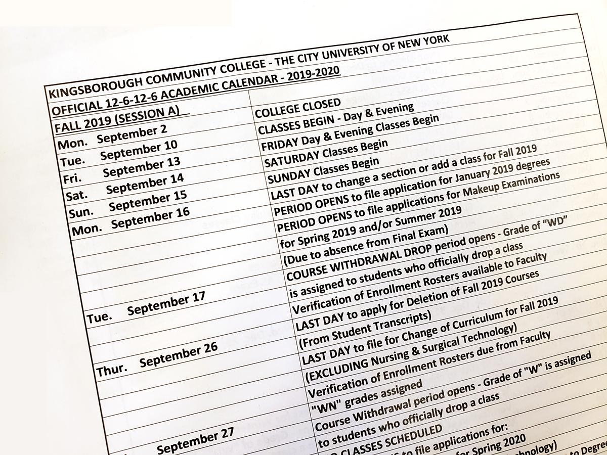Cuny Calendar Fall 2020.Cuny Kingsborough On Twitter Bookmark Cunykcc S Academic