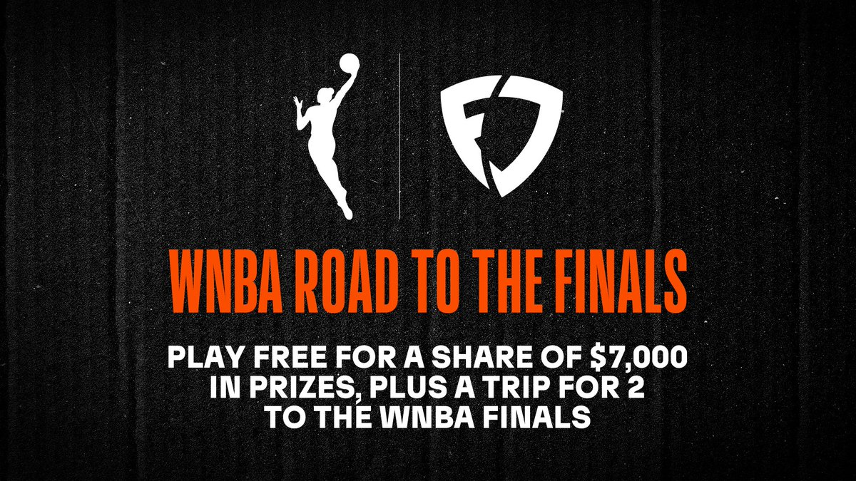 The @WNBA season is wrapping up — now the real test begins.   Just enter any @FanDuel Road to the Finals Free Play from now until Sept. 13 to compete for a spot in the Finals. Win there to get a trip for 2 to a #WNBA Finals game!   More Info: http://fanduel.com/wnba