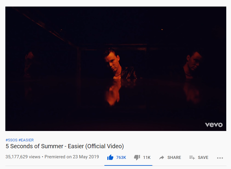 RT @Tha5SOSFamily: #EASIER music video reached 35 MILLION views on Youtube!  https://t.co/MiBY516pMa https://t.co/htUzLJmkpq