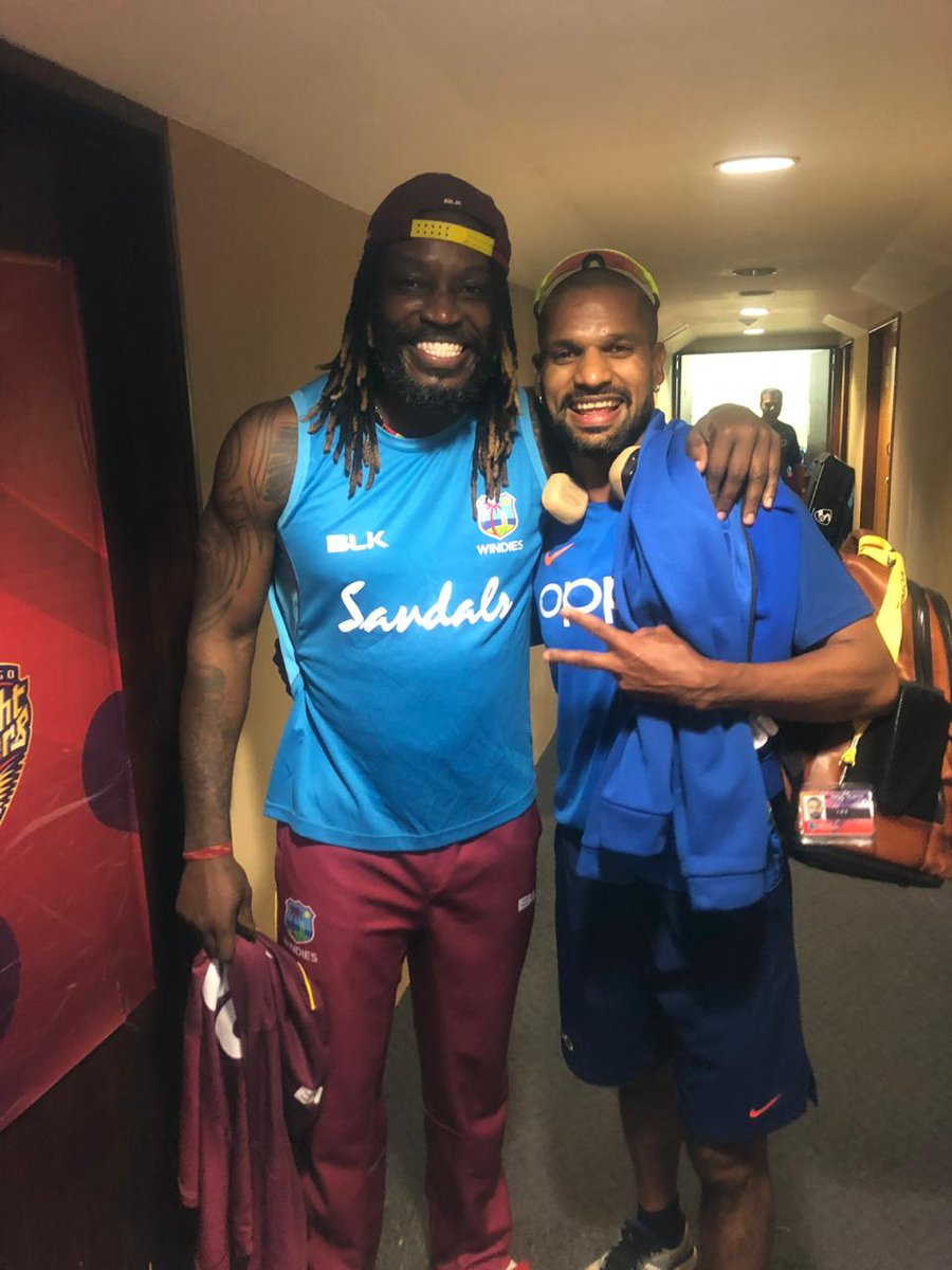 Happy birthday bro.. Was always a pleasure playing cricket with you.. Have a nice year ahead Gayle-storm! @henrygayle