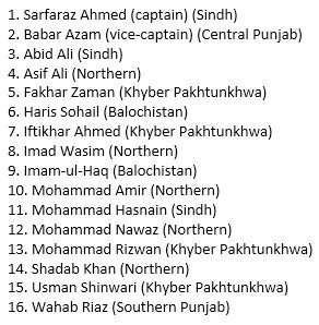 Pakistan's 16-member ODI squad for the upcoming series against Sri Lanka #PAKvSL