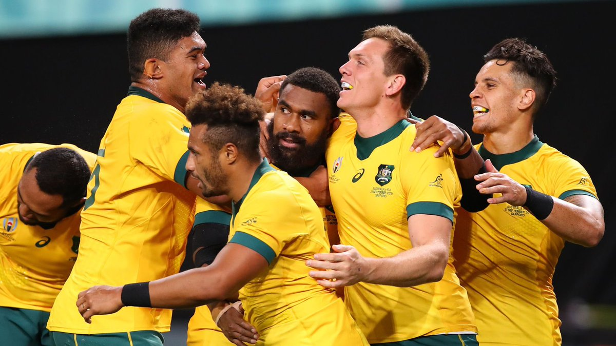Great start for VSI Sporting Directors delegate Matt Toomua & the @wallabies with their opening win in the @rugbyworldcup over #Fiji #Rugby #VSI #Sportingdirector @hein_kriek @dekker_chiel