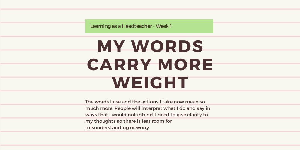 Learning as a Headteacher