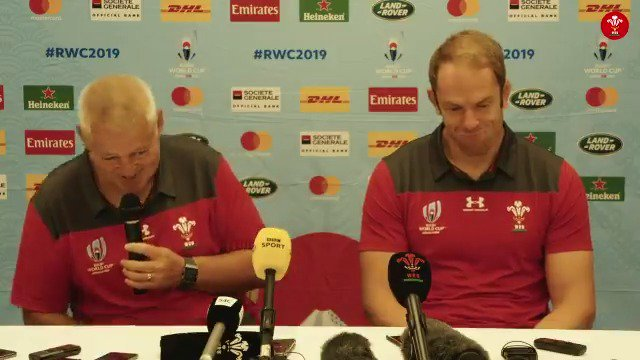 Hes got better with age. Hes like a good wine 🍷 Warren Gatland praised his captain's contribution to the game of rugby at today's #WALvGEO press conference in Toyota. #RWC2019