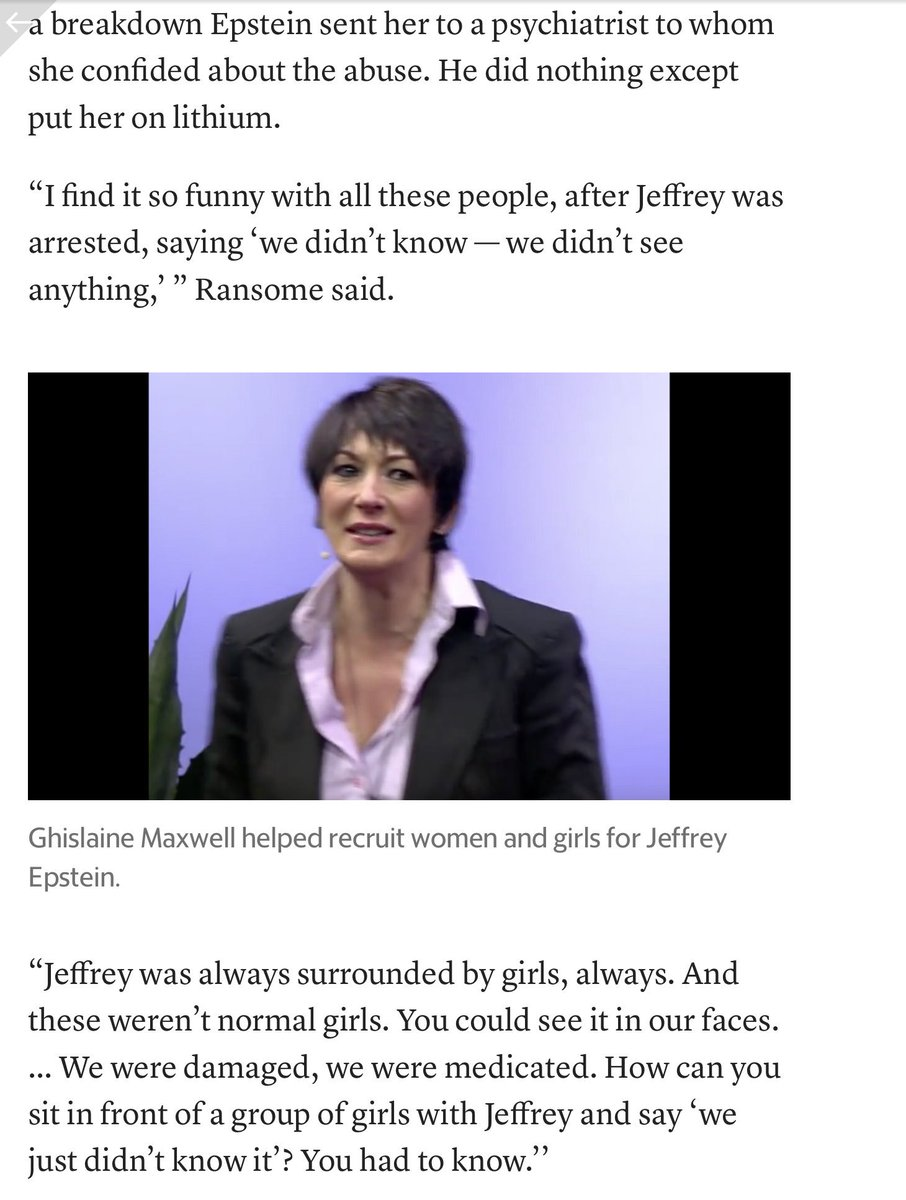 """👏👊❤️Women describe how  Epstein controlled them, by @jkbjournalist https://www.miamiherald.com/news/state/florida/article235247637.html… """"Nor one person helped us. Everyone around us had to know, because we looked so broken. But no one did anything"""" Sarah RansomeThey all knew, they didn't care—& thought no one ever would"""