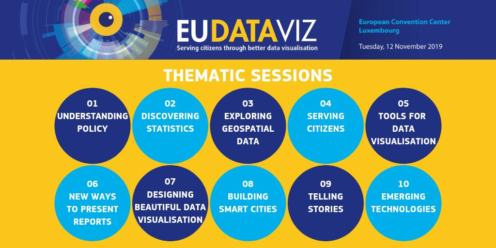 Serving #citizens through better #DataVisualisation is the theme of the conference #EUDataViz  12 November in  organised by @EULawDataPubs. Check out the programme & register by 31 Oct:  http:// bit.ly/2LW0ozQ     . See you there?  #DataViz #BigData #Storytelling #EUinfluencer<br>http://pic.twitter.com/5fBupvjAg3