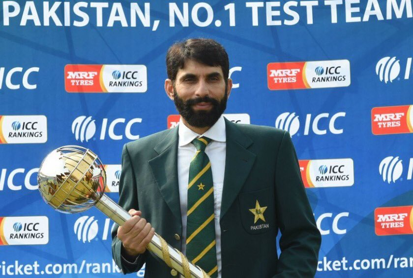 On this day in 2016, Misbah-Ul-Haq became the first and only Pakistan captain to lift ICC Test mace.@captainmisbahpk.#CRICKET
