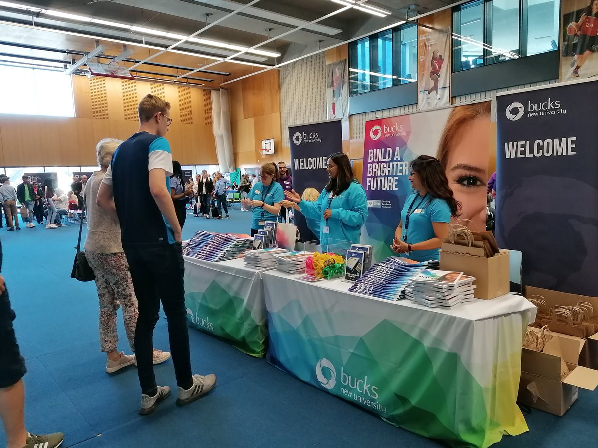 All set for todays #bucksopenday as we welcome prospective students and their families to our High Wycombe campus. @BucksNewUni