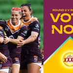 Image for the Tweet beginning: Vote now for your #NRLW