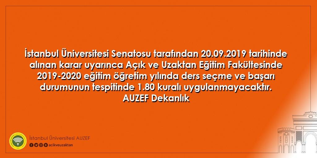 istanbul universitesi auzef auf twitter