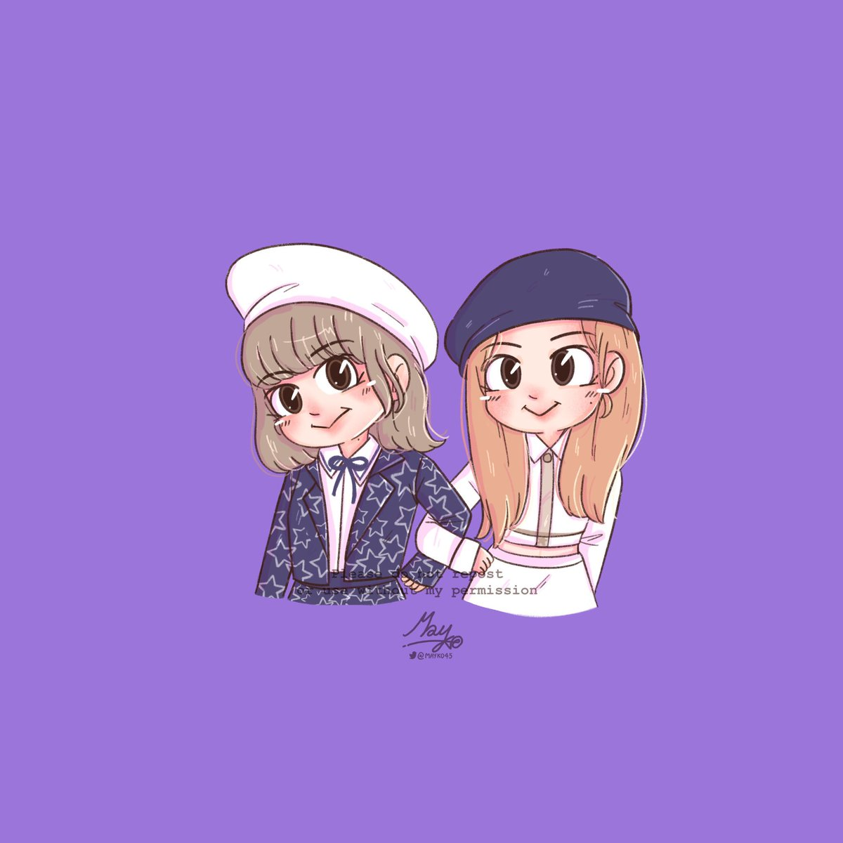 [FA] Little twin ;) #BlackpinkPrivateStage #Rose #LISA #lalisa #ChaeLisa #Mayko #KillThisLove for #TheMusicVideo on #PCAs @ygofficialblink