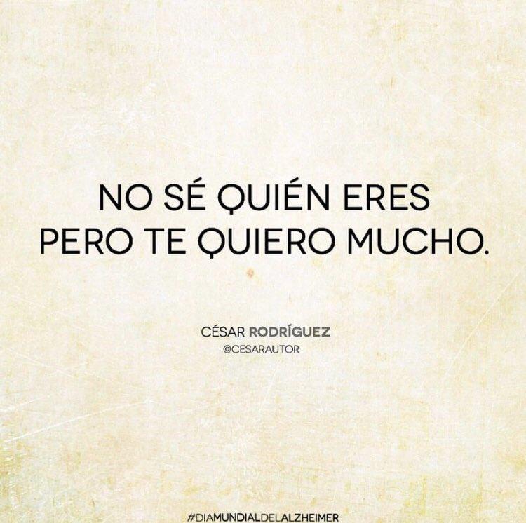 César Rodríguezs Tweet Día Mundial Del Alzheimer Un