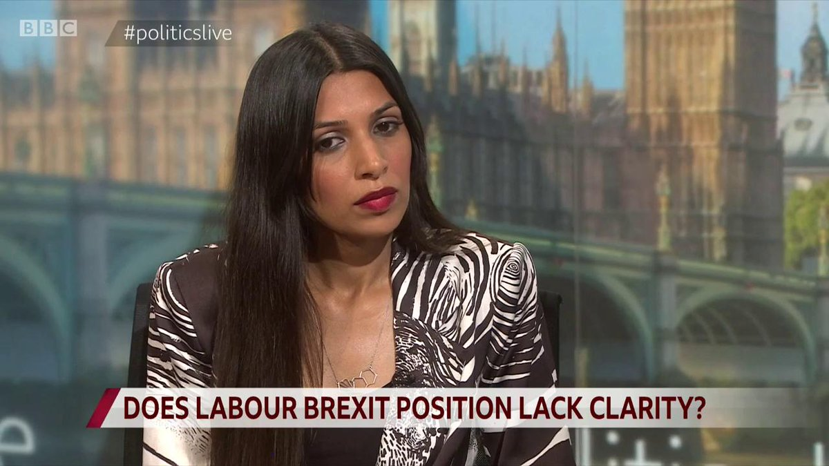 """It's been so emotive, and it's got so ugly and so toxic, that maybe Jeremy Corbyn is actually being the adult in the room"" by remaining neutral on #Brexit, says Labour's PPC for Chingford, Faiza Shaheen http://bbc.in/2lYJLrE  #politicslive"