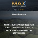 Image for the Tweet beginning: 📢News Release📢:  MAX RESOURCE ANNOUNCES LWIR