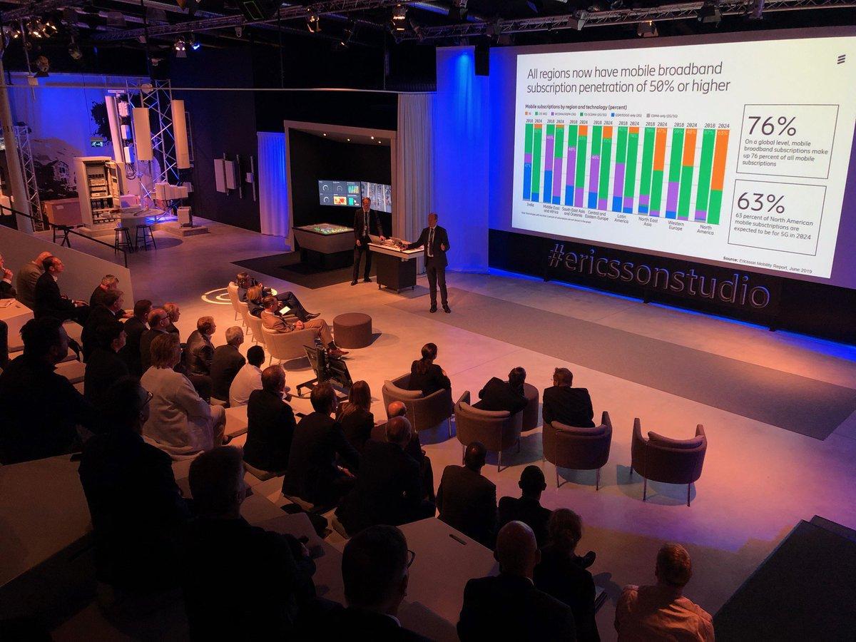 Heute im #ericssonstudio in Stockholm: Minister @HubertAiwanger und die Delegation aus #Bayern informiert sich gemeinsam mit der @TyskSvenskaHK über erste #5G Live-Netze, vernetztes Fahren und digitale Innovationen bei @ericsson / Vielen Dank für den Besuch!pic.twitter.com/kHmm6CI9Tw