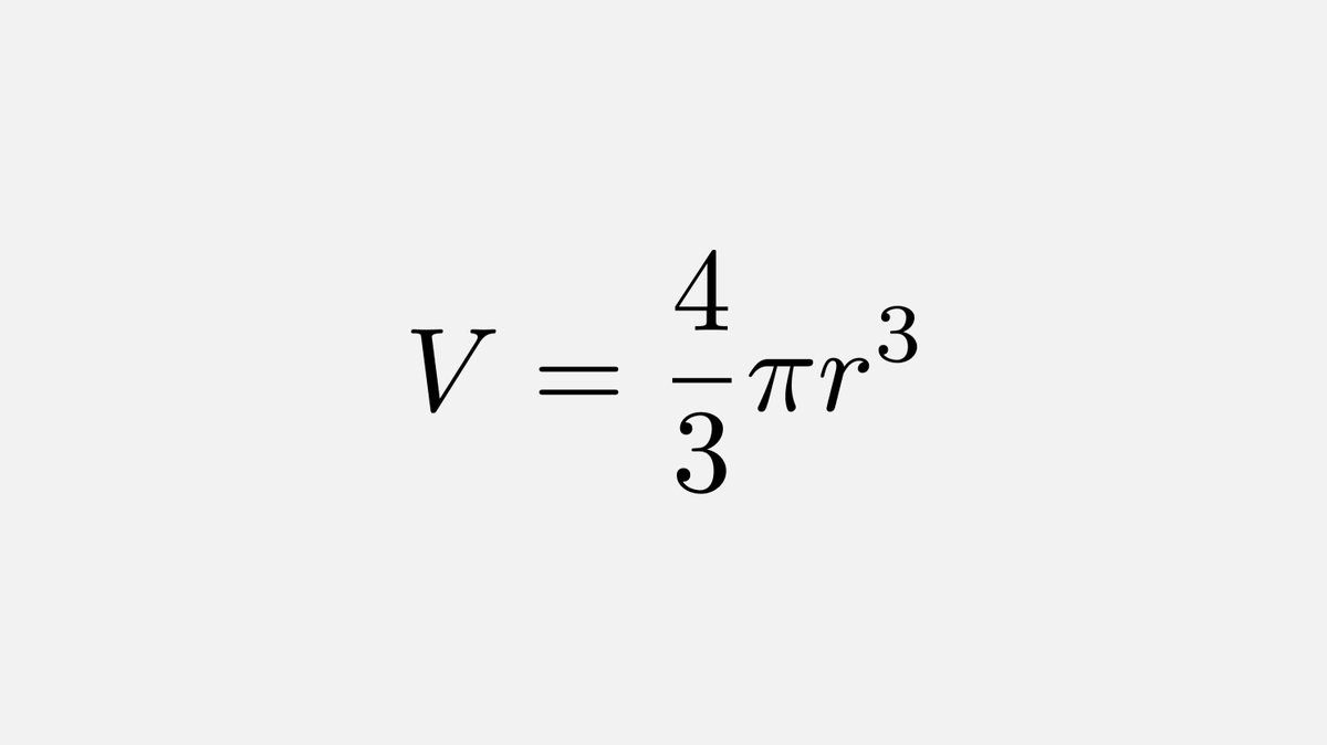 It was only 282 years ago that Euler presented in his textbooks the exact formula for the volume of a sphere