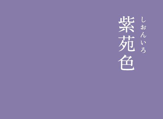 紫苑色(しおんいろ)|にっぽんのいろ秋の野を紫色の美しい花で彩るシオンの色。平安時代では、高貴な紫色が愛され、紫色の花の名前が付けられた色がたくさん誕生しました。▼にっぽんのいろのインスタはこちら#暦生活 #日本 #伝統色 #伝統 #アート #色 #優しい