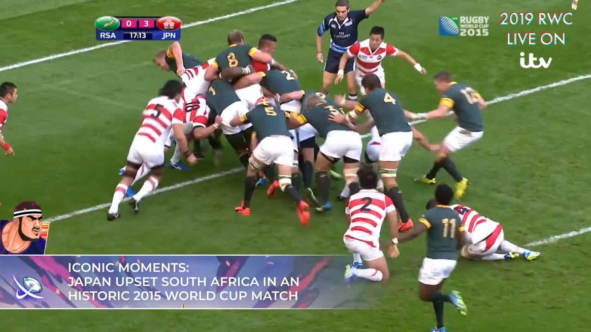 Remember the last time Japan played South Africa at a World Cup? 🤔 Who will come out on top this time around? Watch LIVE on @ITV, Sunday, October 20 from 10.45am #RWC2019 #ITVRugby