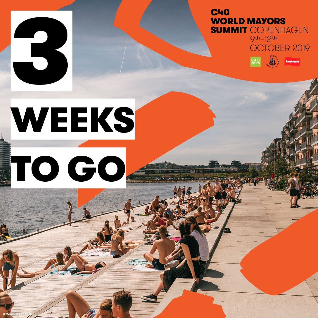 Looking forward to taking part in C40 World Mayors Summit in Copenhagen.