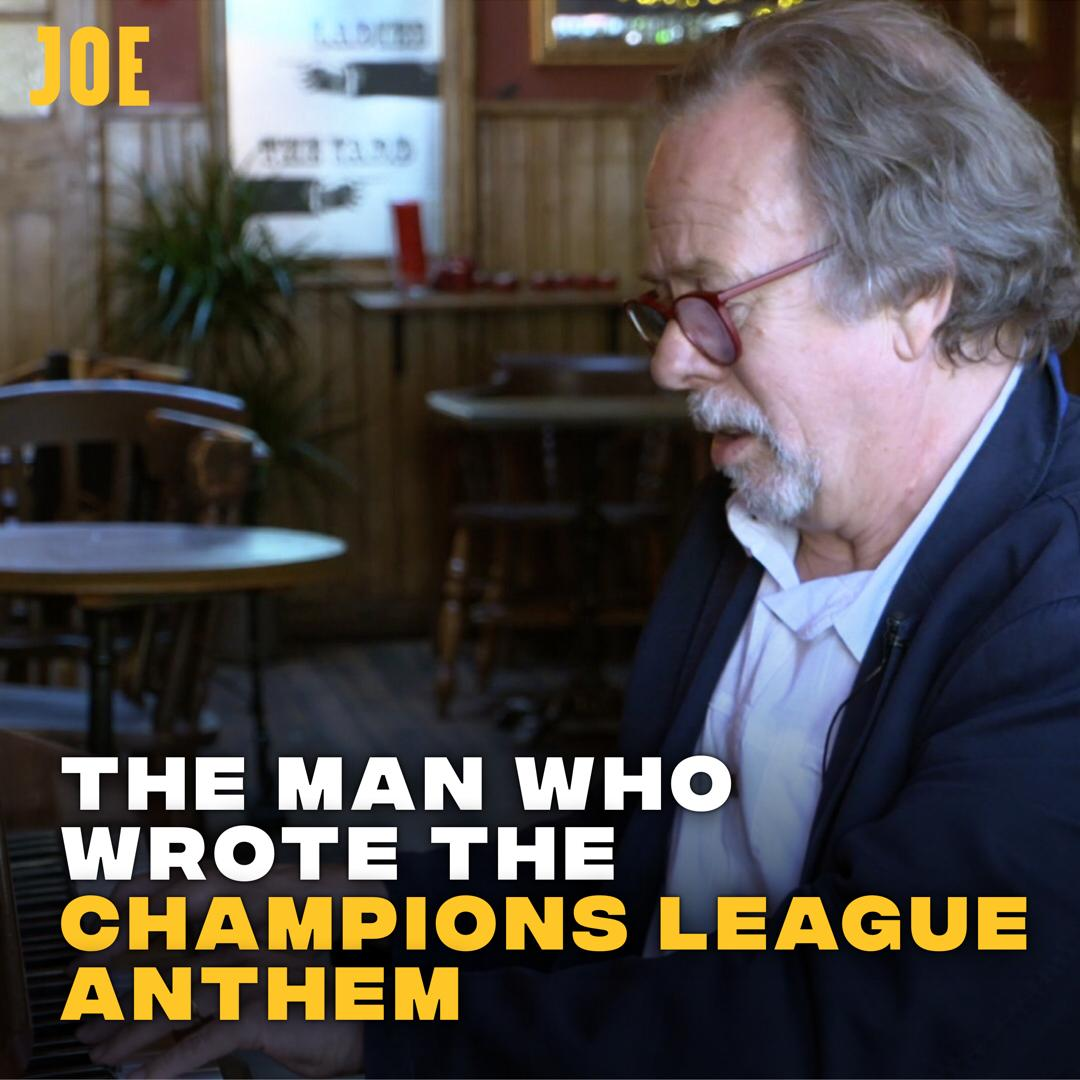 I went to speak to the man who wrote the Champions League anthem. 🏆 https://t.co/1HVUQOjs2P