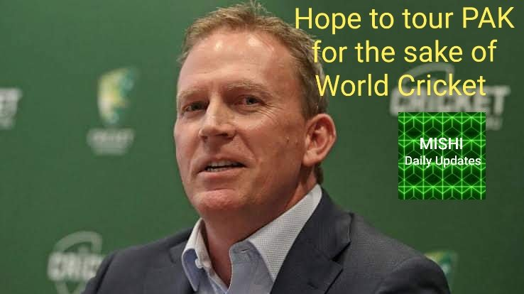 We share their desire for International cricket to come back to PAKISTAN 👍👍said #KevinRoberts cricket AUS chief executive #PAKvAUS