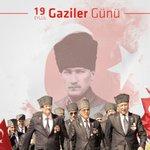Image for the Tweet beginning: Bugün 19 Eylül Gaziler Günü.