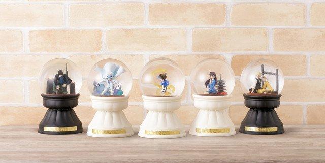 「名探偵コナン」コナン、蘭、キッド、赤井、安室をイメージしたスノードーム