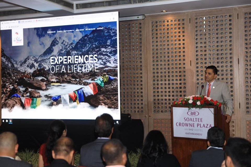 Hon'ble Minister for Culture, Tourism & Civil Aviation Mr. Yogesh Bhattarai officially launched the Visit Nepal 2020 website at an event in Kathmandu today, Sept. 18, 2019. At the event, social media handles and news portal of VN 2020 were also launched.#VisitNepal2020