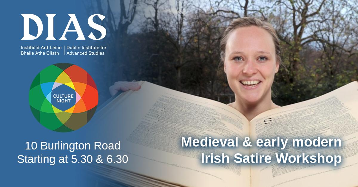 test Twitter Media - This Friday as part of #CultureNight Dr Mícheál Hoyne & Dr Nike Stam will offer an insight into Medieval & early modren Irish satire in 10 Burlington road. No booking necessary and talks will take place at 5.30pm and 6.30pm.  #DIASdiscovers #OícheChultúir https://t.co/WpYqII7Bbf