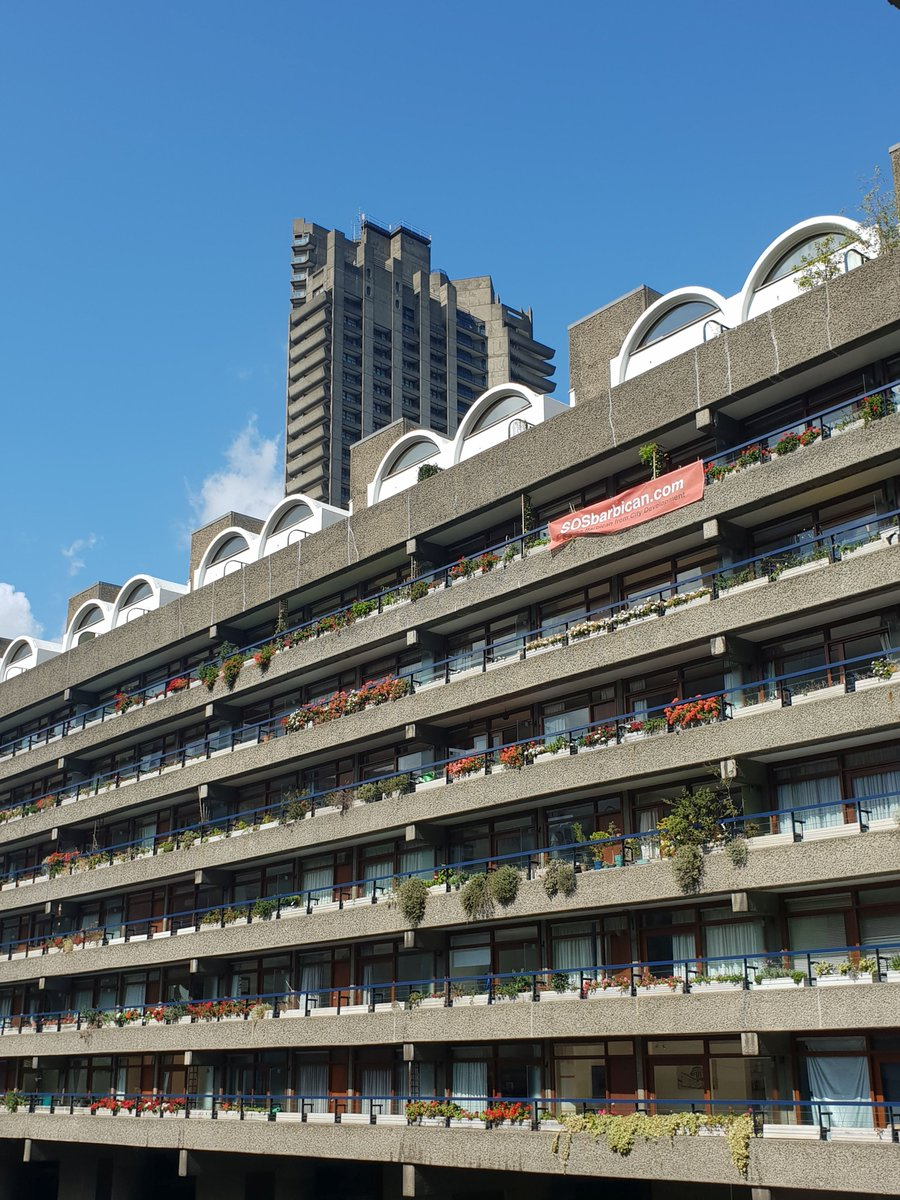 SOS: Barbican Estate  There is also a campaign by the residents who fight against the conversion plans. They inform on their website with the fantastic name http://sosbarbican.com    Photos: © Joe Reeves 2019 @hellobarbican   #SOSBrutalism