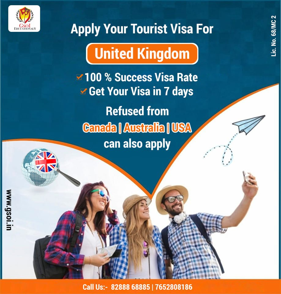 "GSOI Educationals on Twitter: ""Hurry!!! Hurry!!! Hurry!!! UK Visa in just 7  Days 100% success visa Rate ! Best Time To Apply for UK Tourist Visa its  time to relax, enjoy yourself"