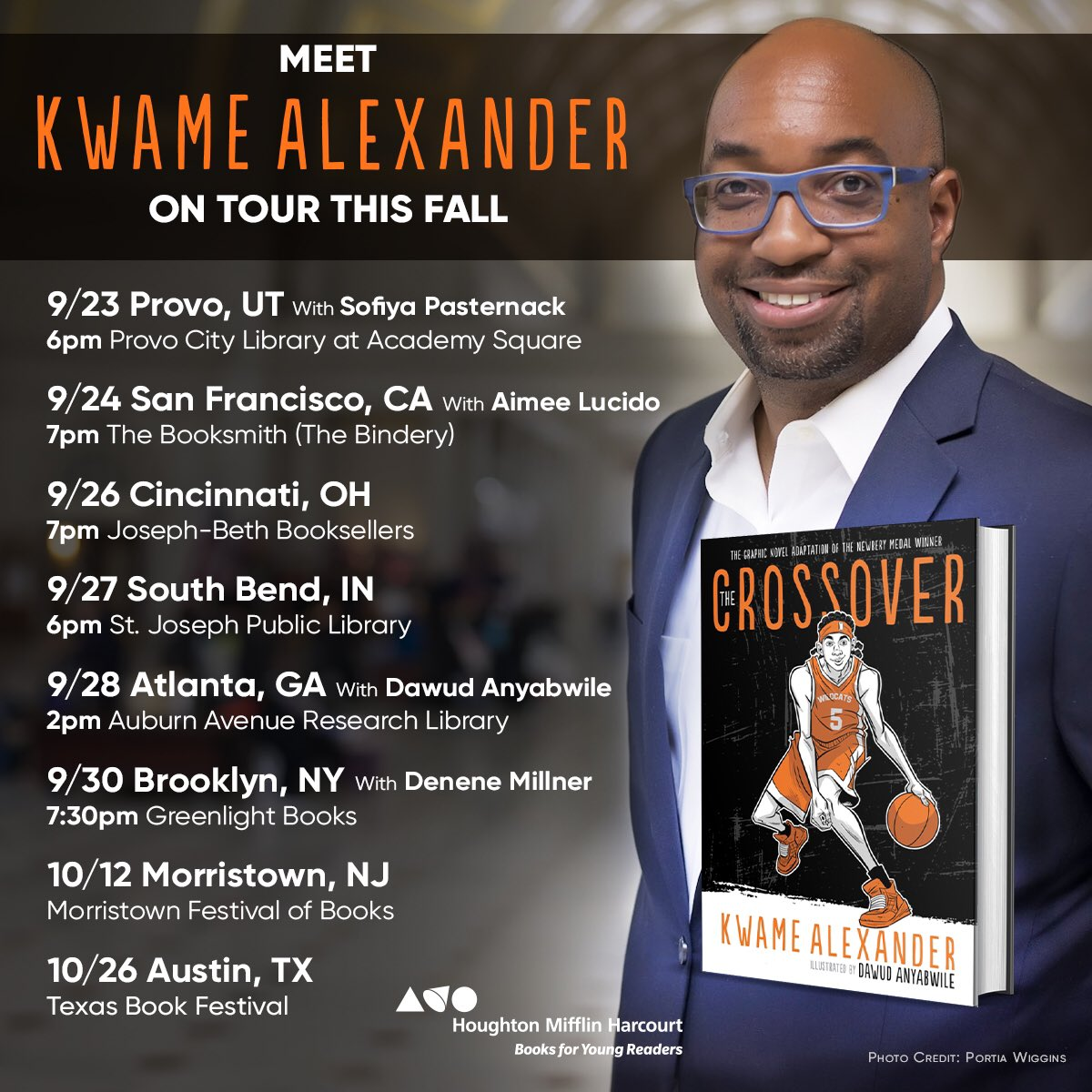 This London bloke is coming to America. Six week tour starts next week. Y'all ready? #TheUndefeated #HowToReadABook TheCrossover graphic novel. #Versify @HMHKids @HarperChildrens