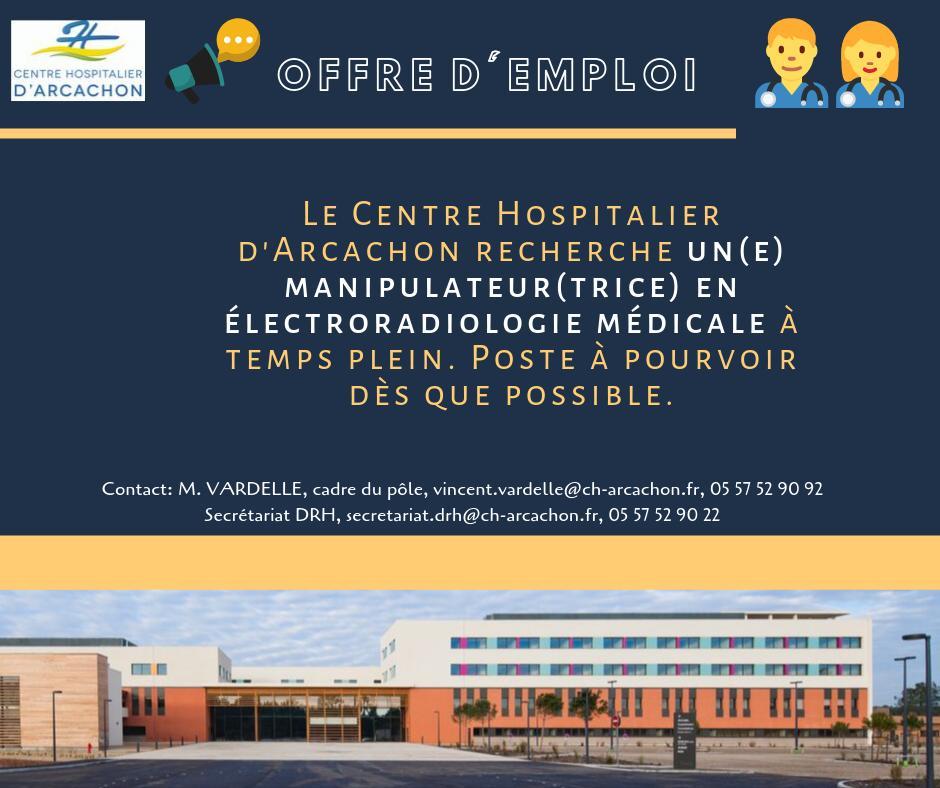 Centre Hospitalier D Arcachon On Twitter Offre D Emploi