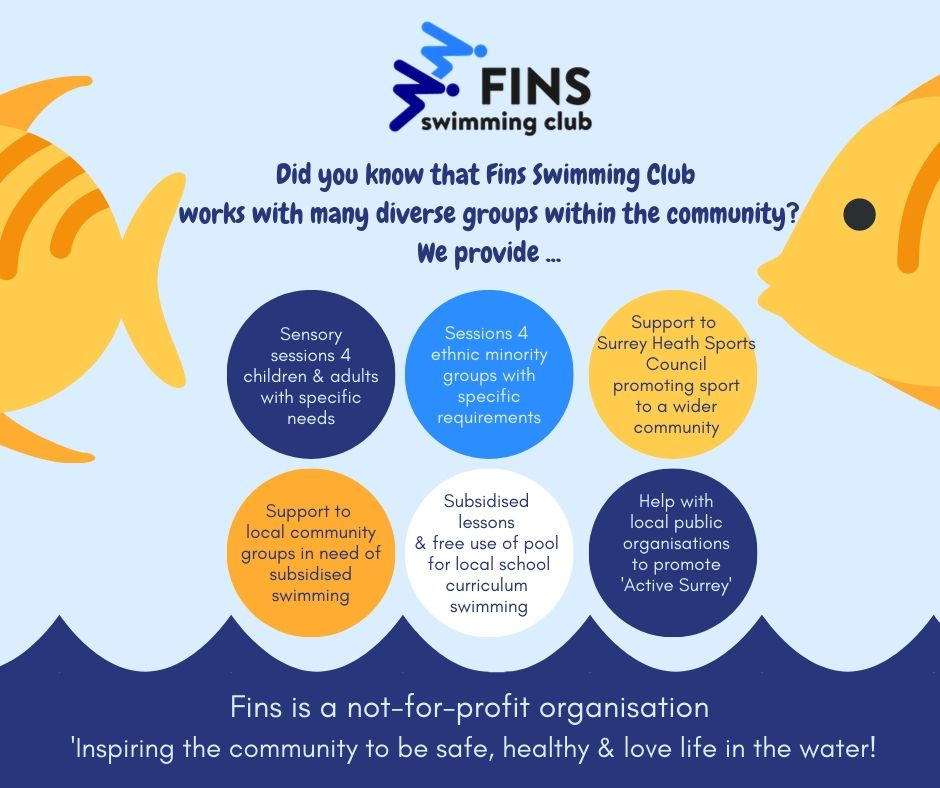 As a not-for-profit organisation, Fins is working within the community to give everyone the opportunity to swim and experience the water. From local organisations, schools, clubs, charities and minority groups, we work hard to be inclusive!#Loveswimming #finsinthecommunity