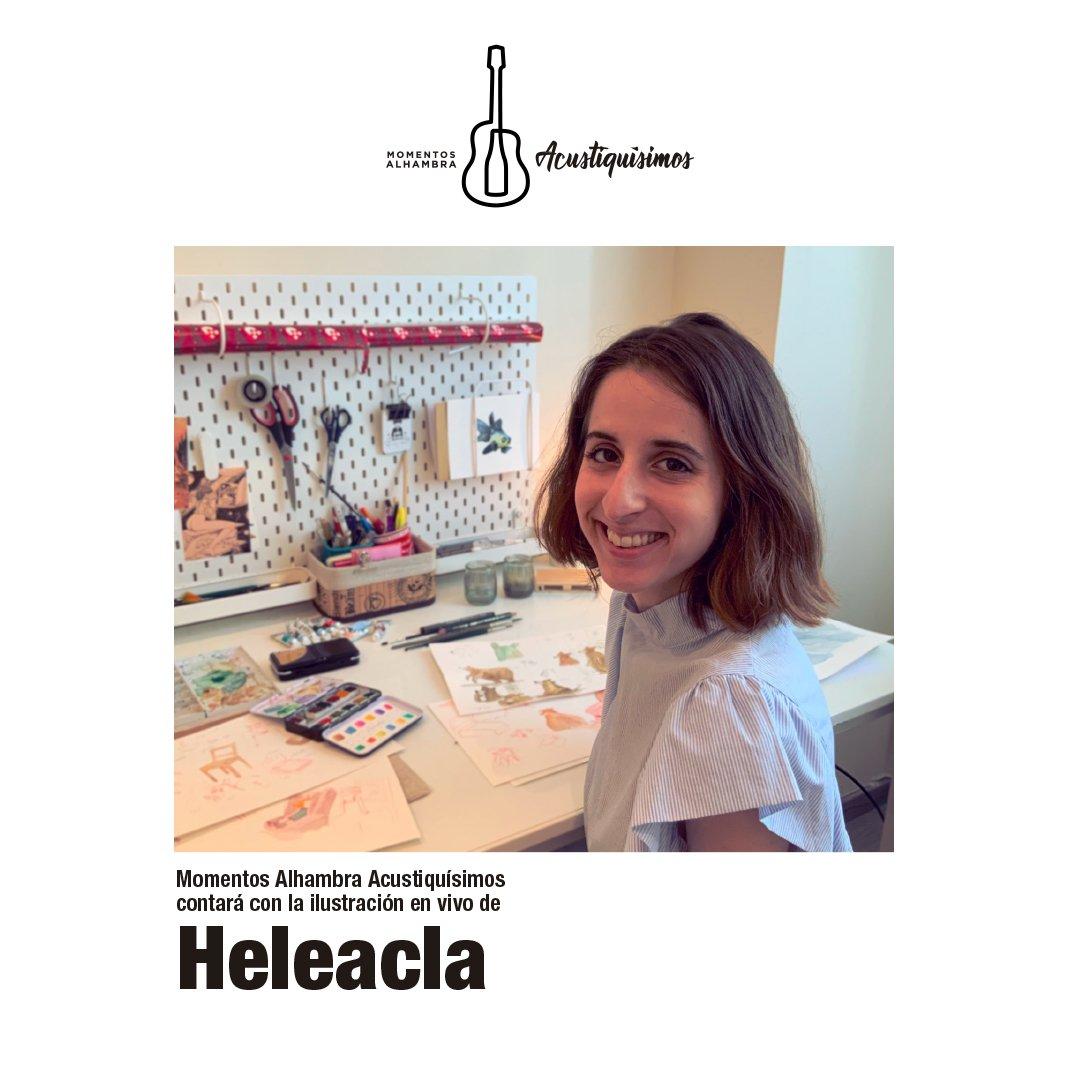 La ilustradora Helena González, artísticamente conocida como @Eleacla se convertirá en una pieza fundamental de #MomentosAlhambra #Acustiquísmos2019 transformando en bellos dibujos cada uno de los directos de esta edición. acustiquisimos.com @Alhambra_Es @artmusicagency