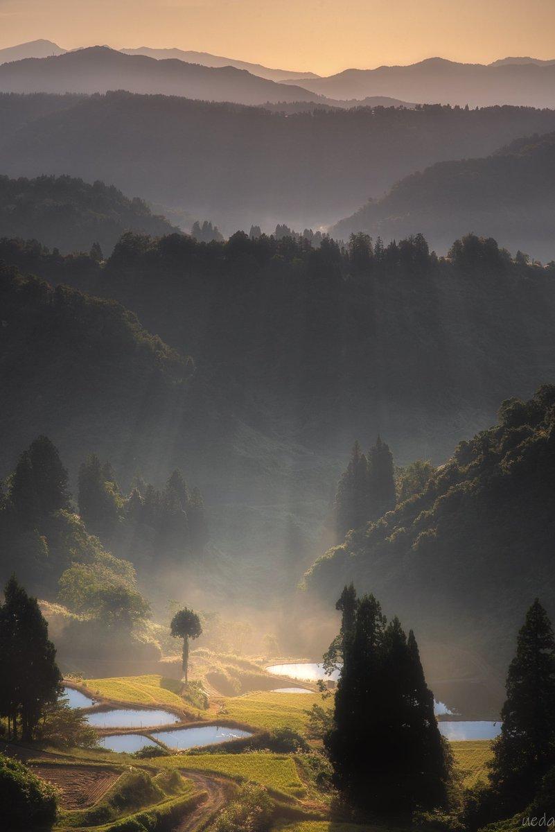山古志の朝縦構図ですので、タップしてみてください先日、新潟県にて撮影#東京カメラ部 #PASHADELIC