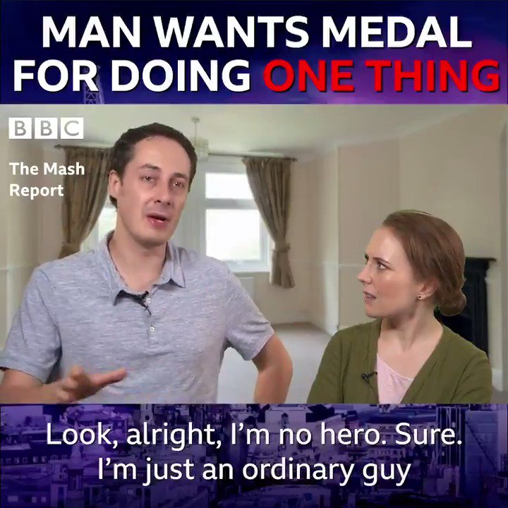 BREAKING NEWS: Man wants medal for doing one thing. 🏅😂#TheMashReport