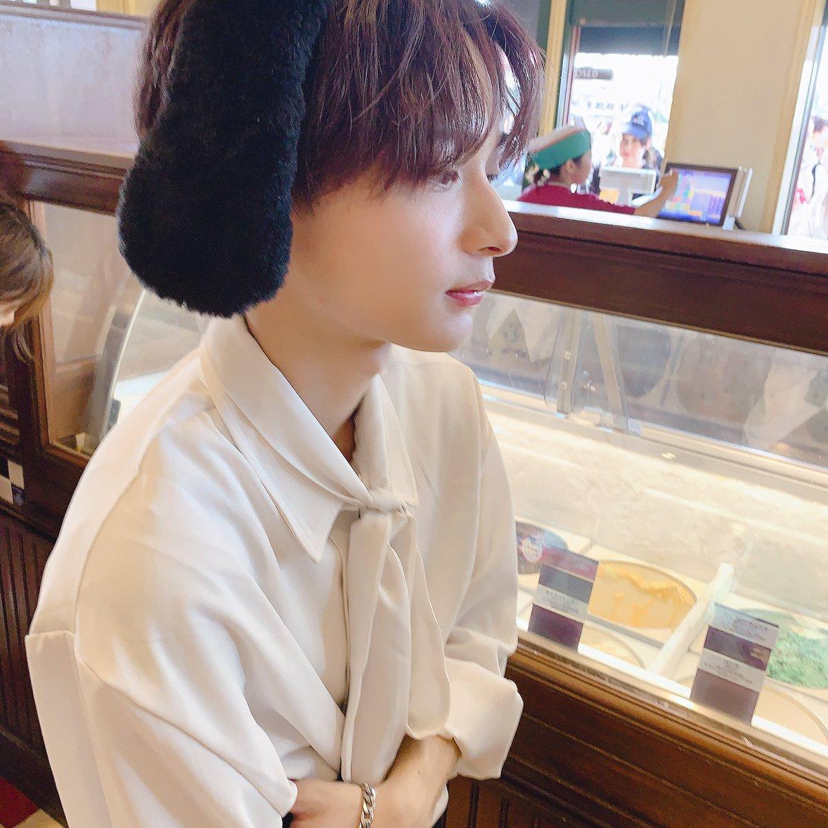彼氏とユニバなう(?)うねうねセンターワケ